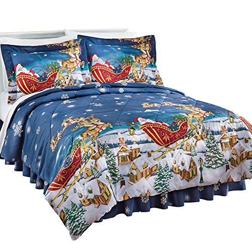 Collections Etc Reversible All Thru the Night Comforter