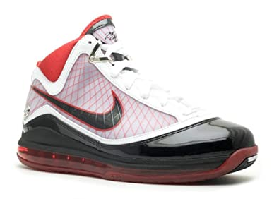 watch 0b65c 81ae3 Amazon.com   Nike Air Max Lebron VII White Black-Varsity Red Mens Shoes  375664-102   Shoes