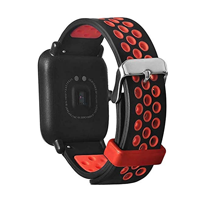Saisiyiky Pulsera de Silicona Correa Compatible con AMAZFIT Bip Xiaomi Huami Banda/Ajustable para Smartwatch Reemplazo de Correa (Azul)
