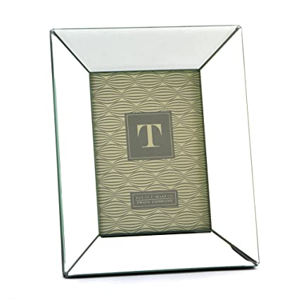 Amazon.com - Two\'s Company Reflections Beveled Mirror Photo Frame, 5 ...