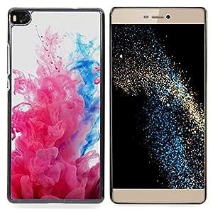 "Qstar Arte & diseño plástico duro Fundas Cover Cubre Hard Case Cover para Huawei Ascend P8 (Not for P8 Lite) (Explosiones de color"")"