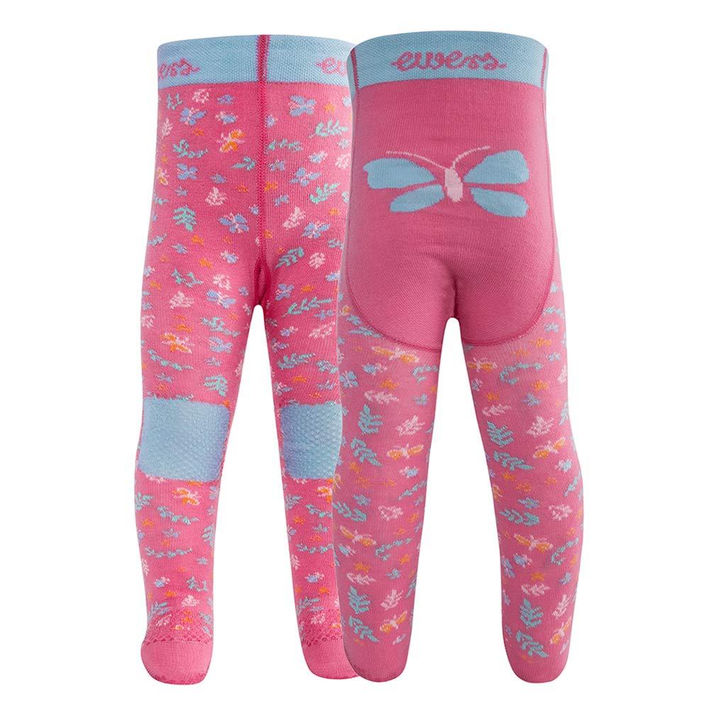 und Kinderkrabbelstrumpfhose f/ür M/ädchen Pomotiv Schmetterling Ewers Baby Strumpfhose Baumwolle Made in Europe