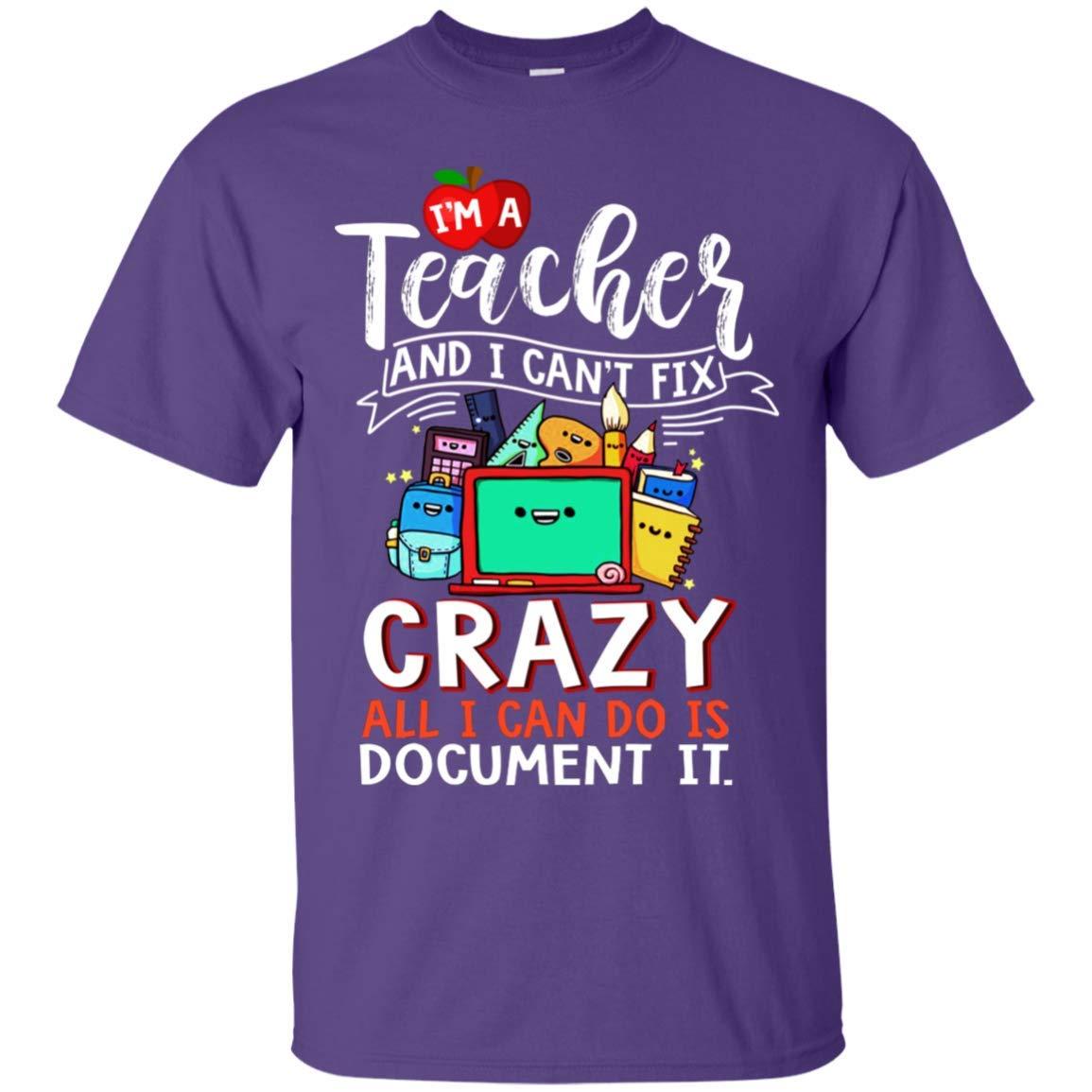 Truekool Im A Tea And I Cant Fix Crazy All I Can Do Is Docut It Funny Gift Tshirt Vneck Shirt
