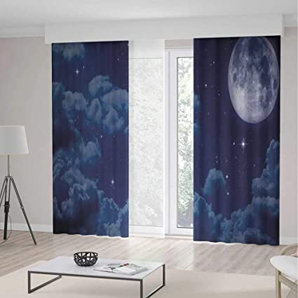 Amazon Com Yoliyana Blackout Bedroom Curtains Night Sky For Living