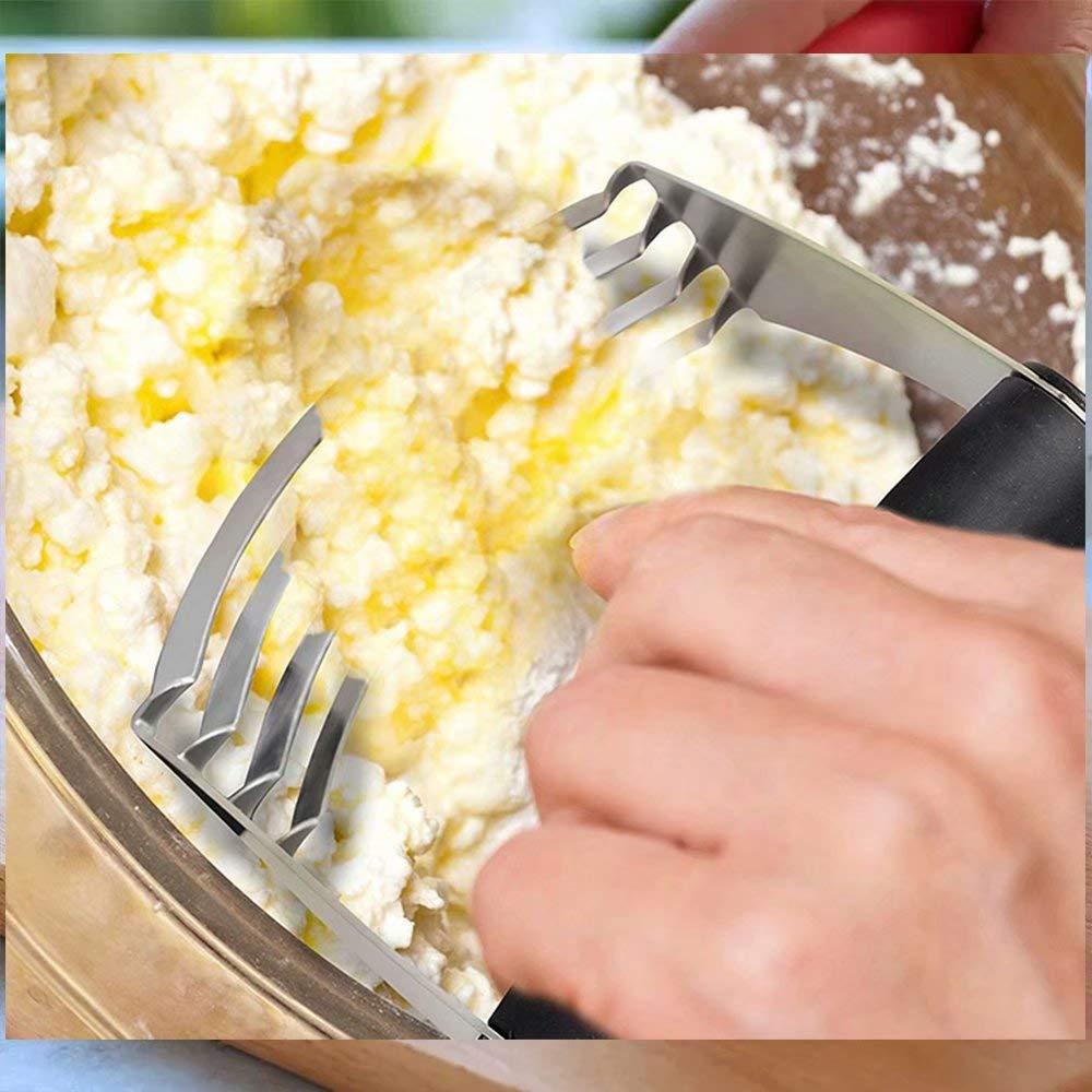 Backwerkzeuge, Teigschneider, Teigschaber Set, Edelstahl, Edelstahl, Edelstahl, mit Klingen, Mehrzweckspatel, Pizza-Teigschneider – Schneider für Butter Käse Nuss B07KTBCDL2 Pizzaschneider e4b21b