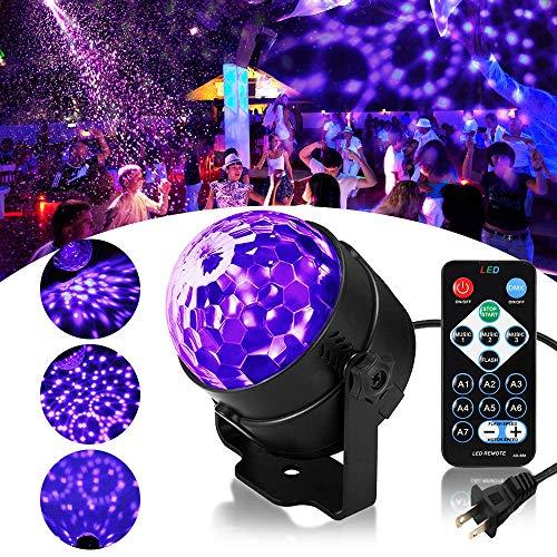 Purple Strobe Light (RECHING LED UV Black Light,UV Disco Ball Party Lights DJ Lights Sound Activated Strobe Light Stage Lighting for House Party Nightclub Karaoke Dance Wedding Ballroom Halloween Event(Black Light -)