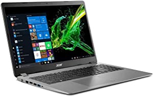 "2020 Acer Aspire 3 15.6"" Full HD 1080P Laptop PC, Intel Core i5-1035G1 Quad-Core Processor, 8GB DDR4 RAM, 256GB SSD, Ethernet, HDMI, Wi-Fi, Webcam, Numeric Keypad, Windows 10 Home, Steel Gray"