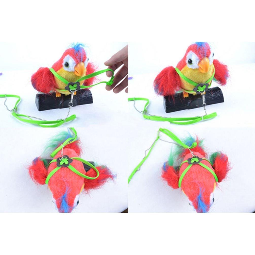Adjustable Parrot Bird Harness & Leash Anti-Bite Soft Fashion Bird Training Leash Harness Defonia