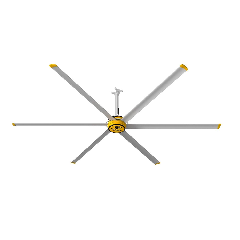 amazon com big ass fans 3600 silver yellow shop ceiling fan home