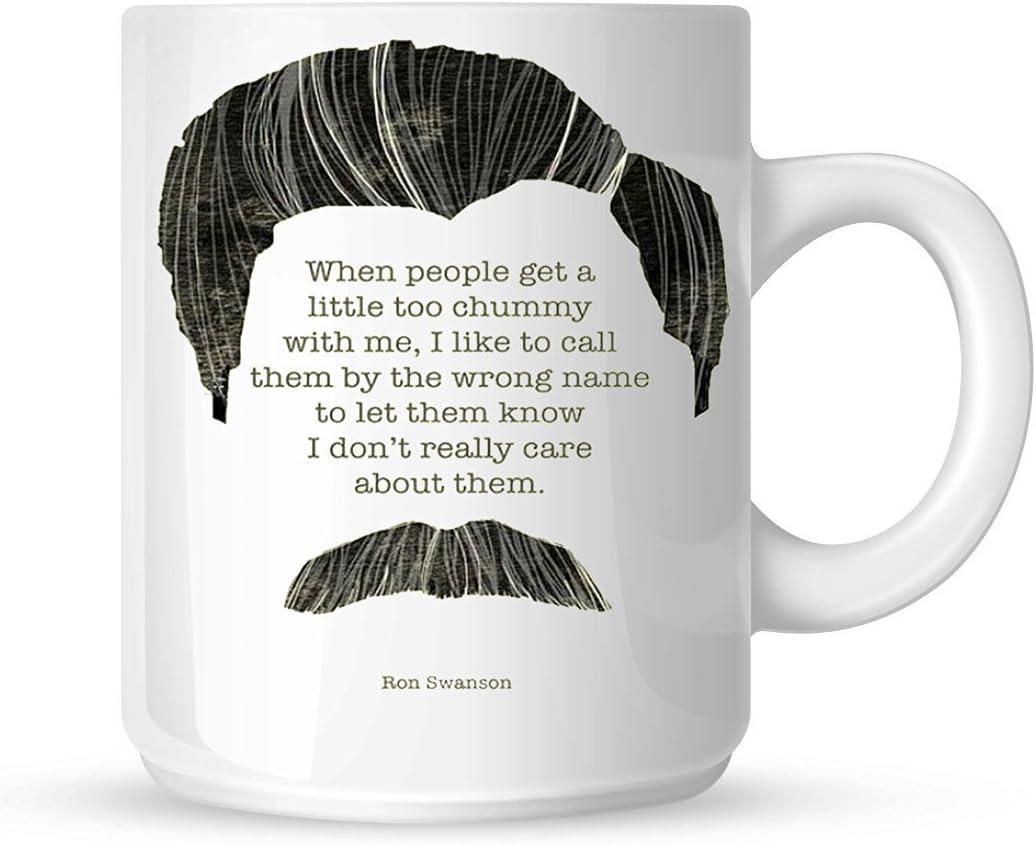 Classic Ron Swanson quoteparks Mya café café taza, taza personalizada, taza personalizada con fotos, regalo único por DK Collection