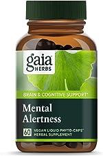 Gaia Herbs Mental Alertness Vegan Liquid Capsules, 60 Count - Memory