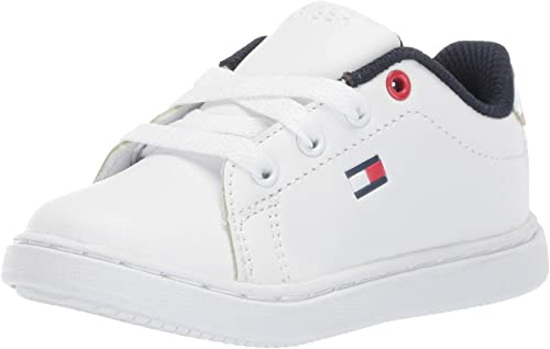low price genuine shoes authentic Amazon.com: Tommy Hilfiger Kids Iconic Court (Toddler): Shoes