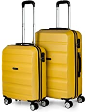 4a83ae021 ITACA - Maletas de Viaje Trolley ABS Lisas. Rígidas Resistentes y Ligeras.  Asas 4