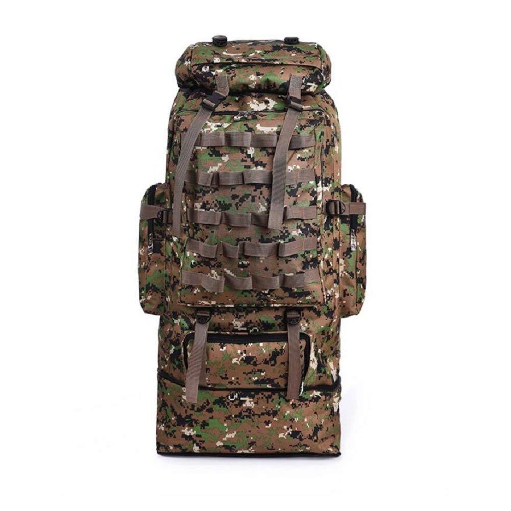 BO Outdoor Rucksack Camouflage Tactical Rucksack, 56-75L Große Kapazität Outdoor Camping Rucksack Ausrüstung, Männer und Frauen Allgemeine Wasserdichte Einstellbare Multi-Funktions-Schulter Berg Ruck