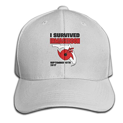 cf505299 Amazon.com : I Survived Hurricane Irma Adjustable Baseball Caps  Unstructured Dad Hat 100% Cotton Ash : Clothing