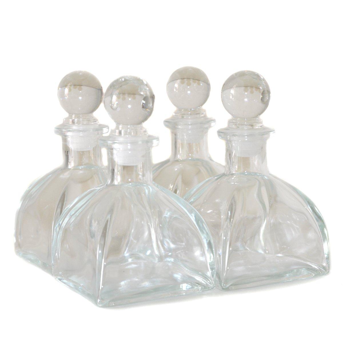39ed6441e5ec Amazon.com: Ougual Set of 4 Glass Diffuser Bottles 9cm High 150ml ...
