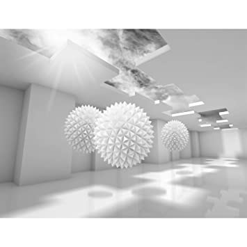 Fototapete 3D - Grau 396 x 280 cm Vlies Wand Tapete Wohnzimmer Schlafzimmer  Büro Flur Dekoration Wandbilder XXL Moderne Wanddeko - 100% MADE IN ...