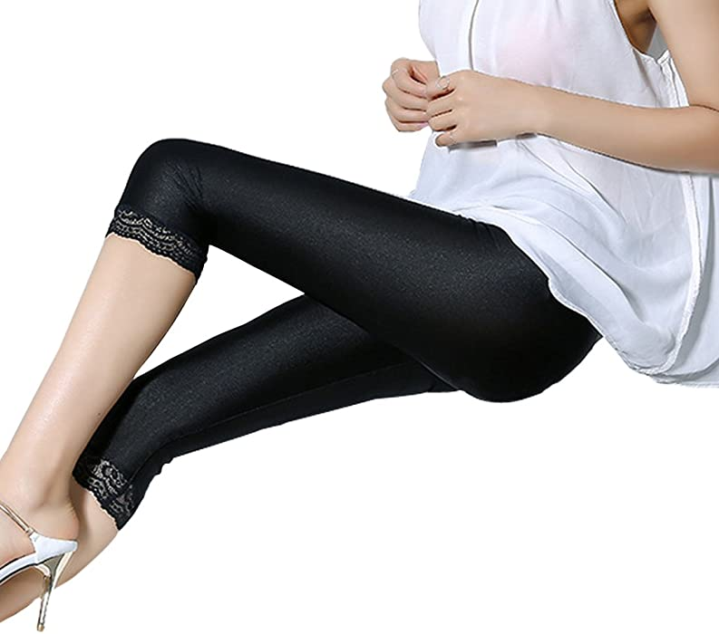 5c17c15ecb5 ... Romastory Women s Stretched Shiny Sports Leggings Elastic Yoga Pants  Tights ...