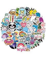 200 Piece Water Bottles Stickers for Teens Girls Kids Adults, Colorful VSCO Vinyl Stickers, Cute Aesthetic Stickers Autocollant, Laptop, Phone, Skateboard Trendy Waterproof Stickers(A)