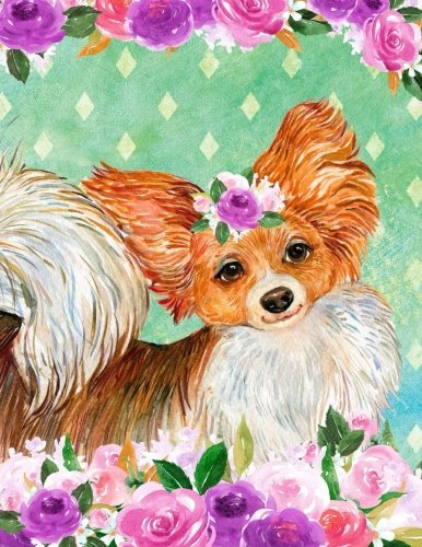 Download My Big Fat Bullet Journal For Dog Lovers Papillon In Flowers: Jumbo Sized Dot Style Bullet Journal Notebook - 300 Plus Numbered Pages With 300 Dot ... Doodling. (Jumbo Dot Journal 3) (Volume 12) pdf