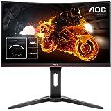 """AOC C24G1 - Monitor gaming curvo sin marcos de 24"""" Full HD e-Sports (1920x1080, VA, 1 ms, 144 Hz, 1500R, AMD FreeSync…"""