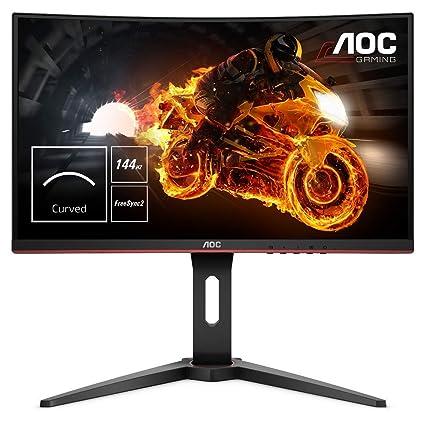 Aoc Gaming C24g1 59 9 Cm 23 6 Zoll Curved Monitor Fhd Hdmi 1ms Reaktionszeit Displayport 144 Hz 1920 X 1080 Pixel Free Sync Schwarz