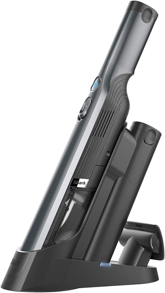Shark Handheld Vacuum Cleaner Aspirador de Mano Inalámbrico, Batería Doble, Gris