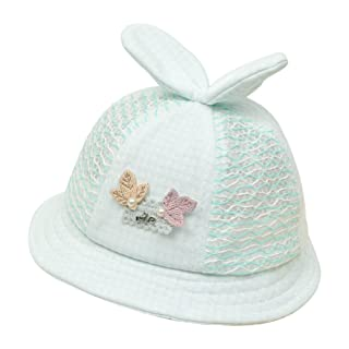 Ruikey 1 PCS Cappello Cappelli della Benna Pescatore Semplice Pizzo per i Bambini 0-1 Anni di età Bambina(Giallo)