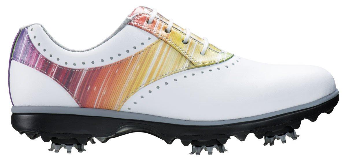 FootJoy Emerge Golf Shoes Closeout 2017 Women White/Rainbow Medium 8.5