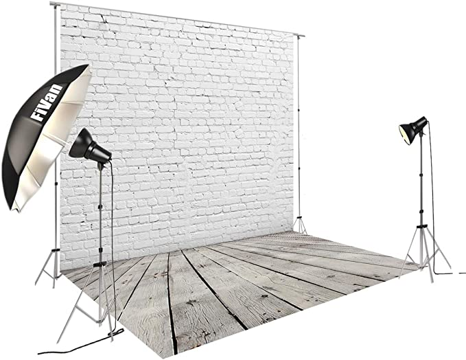 8x12 FT Ivory and White Vinyl Photography Backdrop,Dots Zigzags and Diagonal Stripes Pastel Toned Geometric Design Background for Baby Birthday Party Wedding Studio Props Photography