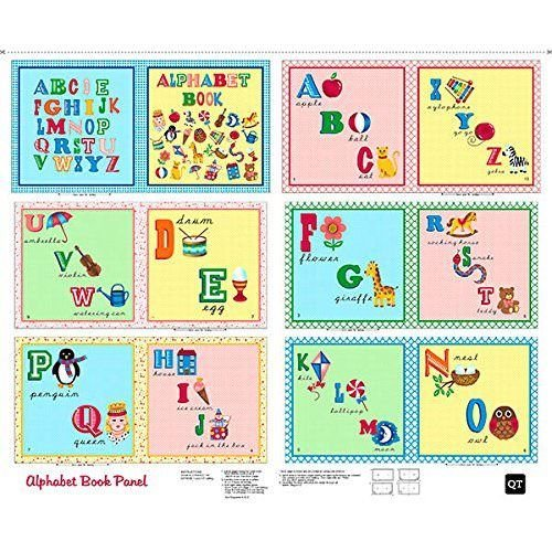 Sew & Go Alphabet Book Panel 36'' x 44'' Cotton Fabric by Quilting Treasures by Quilting Treasures