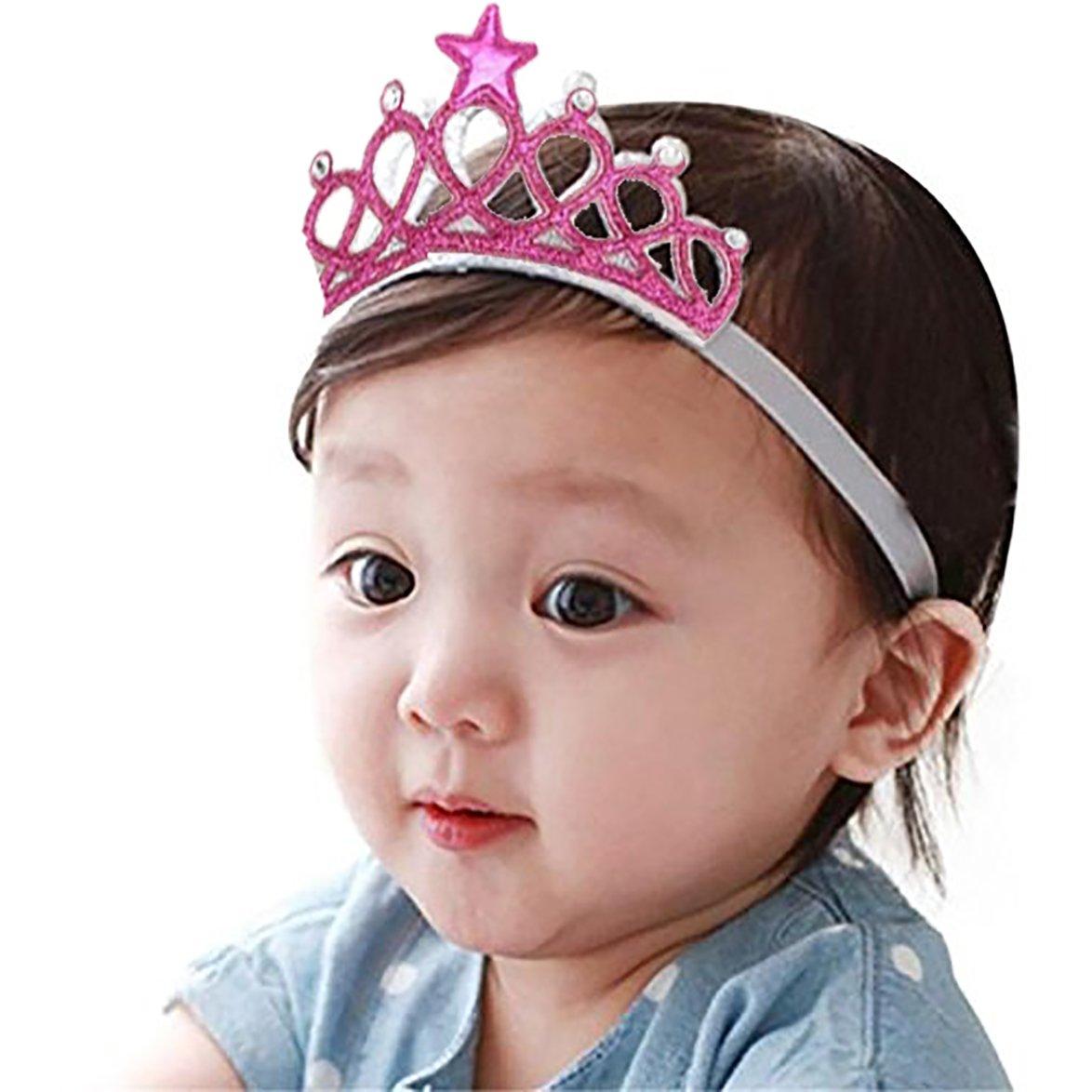 Ziory Pink Baby Girl Baby Boy Unisex Rhinestone Crown Headbands Toddler  Princess Headband Hair Accessories Birthday Gift Tiara Crown Headband   Amazon.in  ... b0855a3f335