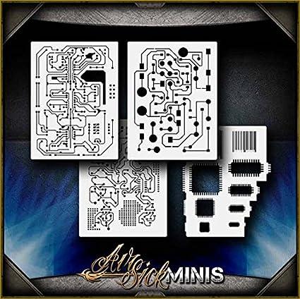 HEXPAT Mini AirSick Airbrush Stencil Template