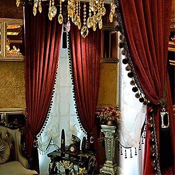 Amazon Com Luxury Curtain For Living Room Blackout Velvet