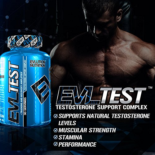 Evlution Nutrition Testosterone Booster Pills EVL Test Training & Recovery Amplifier* Supports Natural Testosterone Levels, Muscular Strength, Stamina & Optimal Sleep (30 Serving)