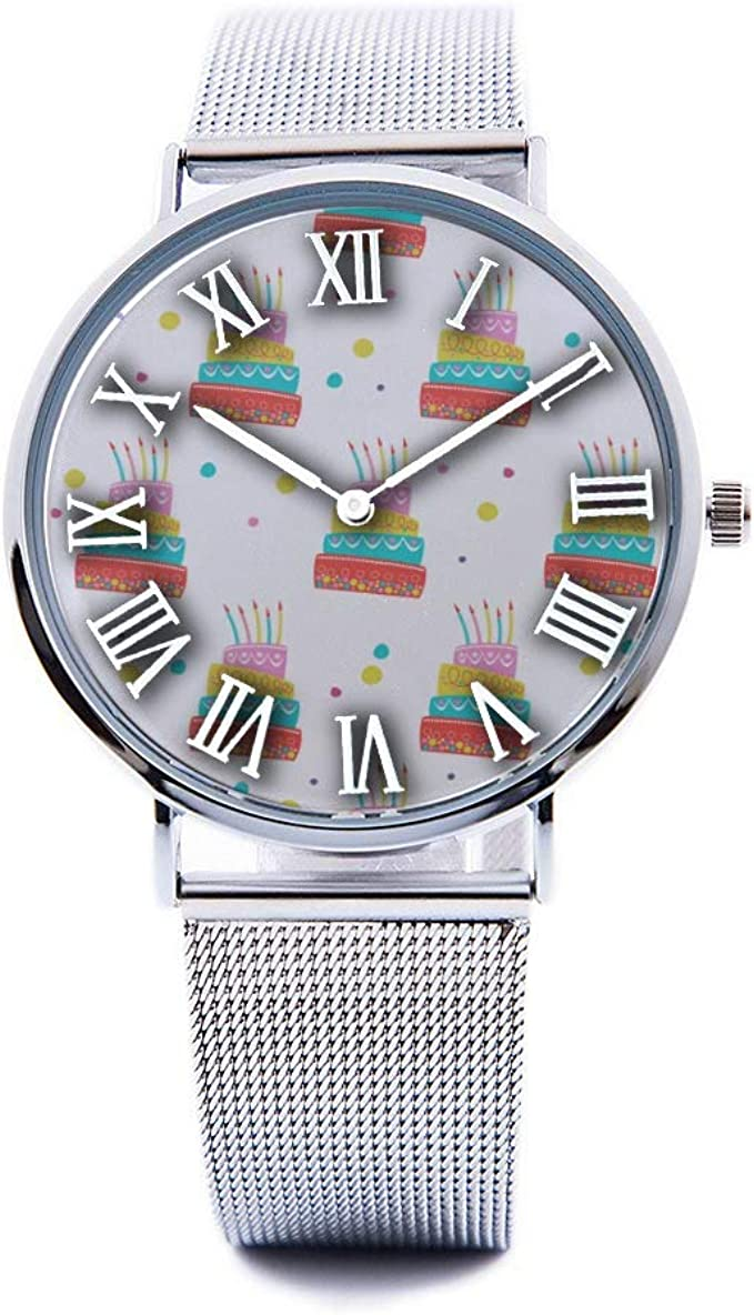 Cool Amazon Com Unisex Fashion Watch Birthday Cake Dessert Baking Gift Personalised Birthday Cards Arneslily Jamesorg
