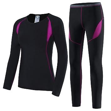 buy online 47c29 0c4da HAINES Thermounterwäsche Damen Funktionswäsche Warme Unterwäsche Winter  Thermo Skiunterwäsche