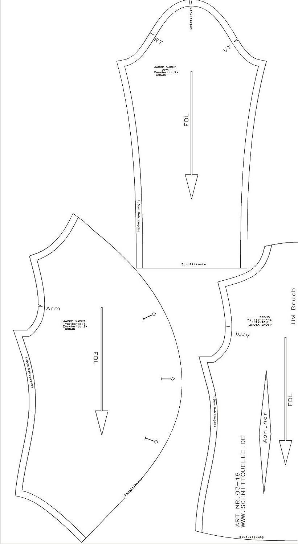 Schnittquelle Damen-Schnittmuster Einzelgr/ö/ßenschnittmuster verf/ügbar von 36-52 Jacke Vaduz Gr.36