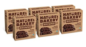 Nature's Bakery Whole Wheat Fig Bars, Double Chocolate Brownie, Real Fruit, Vegan, Non-GMO, Snack bar, 6 boxes with 6 twin packs (36 twin packs)