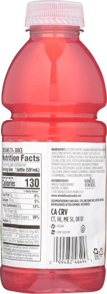 Whole Foods Market, Nutrient Enhanced Water Beverage, Pink Lemonade + B  Vitamins, 20 fl oz