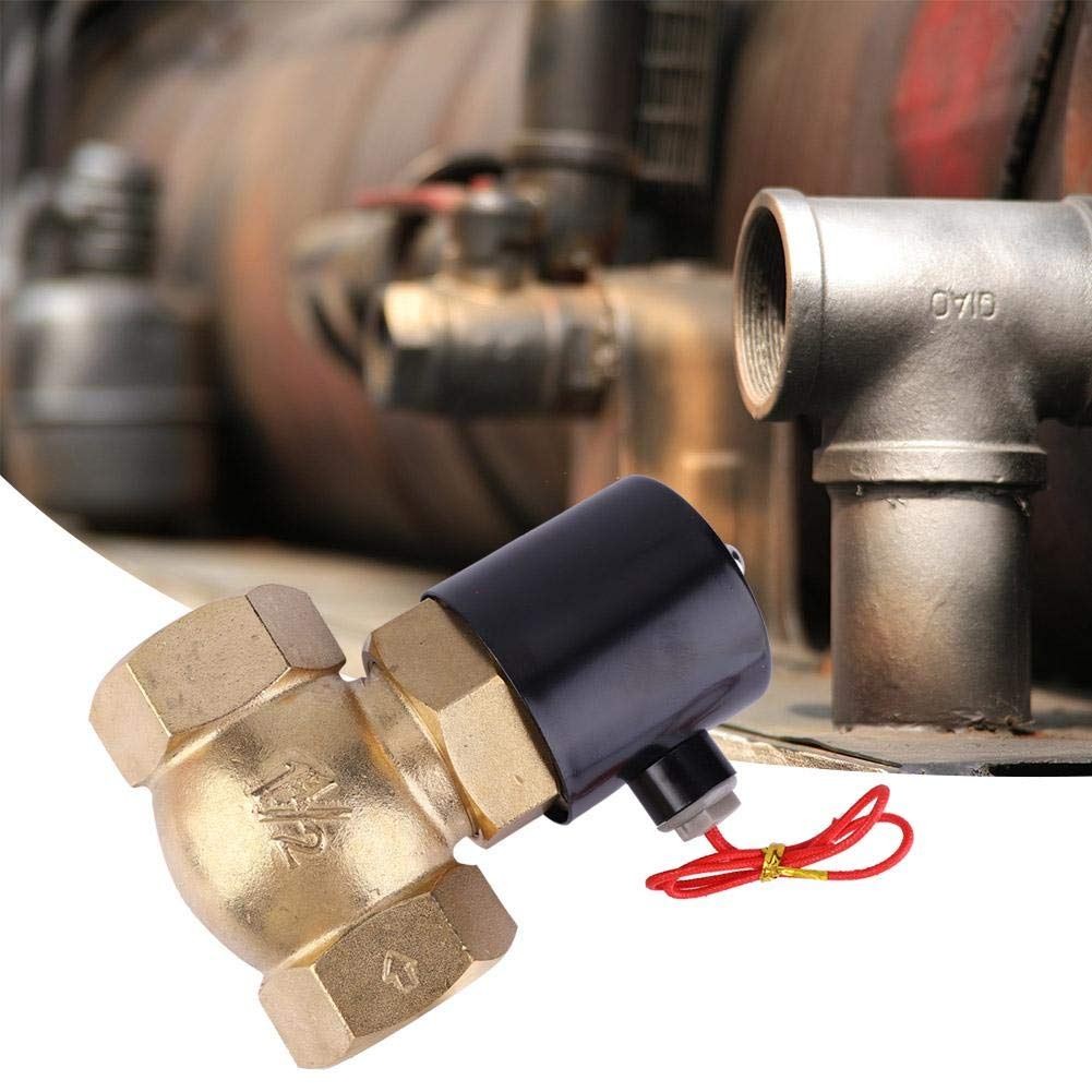 DC24V 0.1-1.5Mpa Pilot Type Normally Colsed Two-Way Solenoid Valve for Air Water Steam G1-1//2 Brass Electric Solenoid Valve