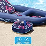 Aqua Ultimate 2 in 1 Convertible Water Lounge, Inflatable Pool Float. Multi Position Recliner & Tanner with Caddy.