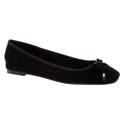 75c3e8c4c24 Para mujer Dune negro diseño de bailarina de ante con forma de zapato de  traje de neopreno para mujer