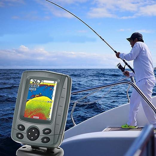 WANG 3.5LCD al Aire Libre Dual Sonar 300M Buscador de Pesca Alarma Sonda Localizador de Profundidad