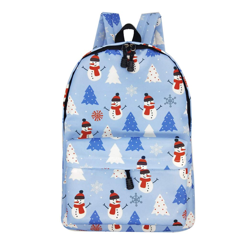 Lightweight Schoolbag Cute Printed Shoulder Bag Large Capacity Backpack Casual Travel Bag for Girls By Lmtime(E Multicolor)