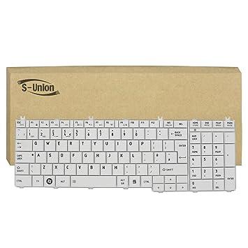 Amazon.com: s-union nuevo blanco Laptop Reino Unido Teclado ...