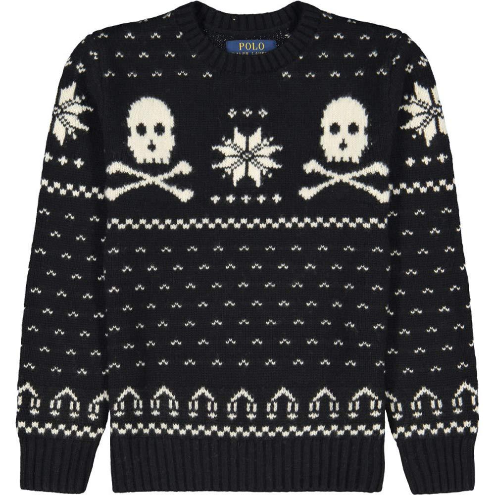Ralph Lauren Polo Boys Nordic Skull Merino Sweater (Large 14-16)