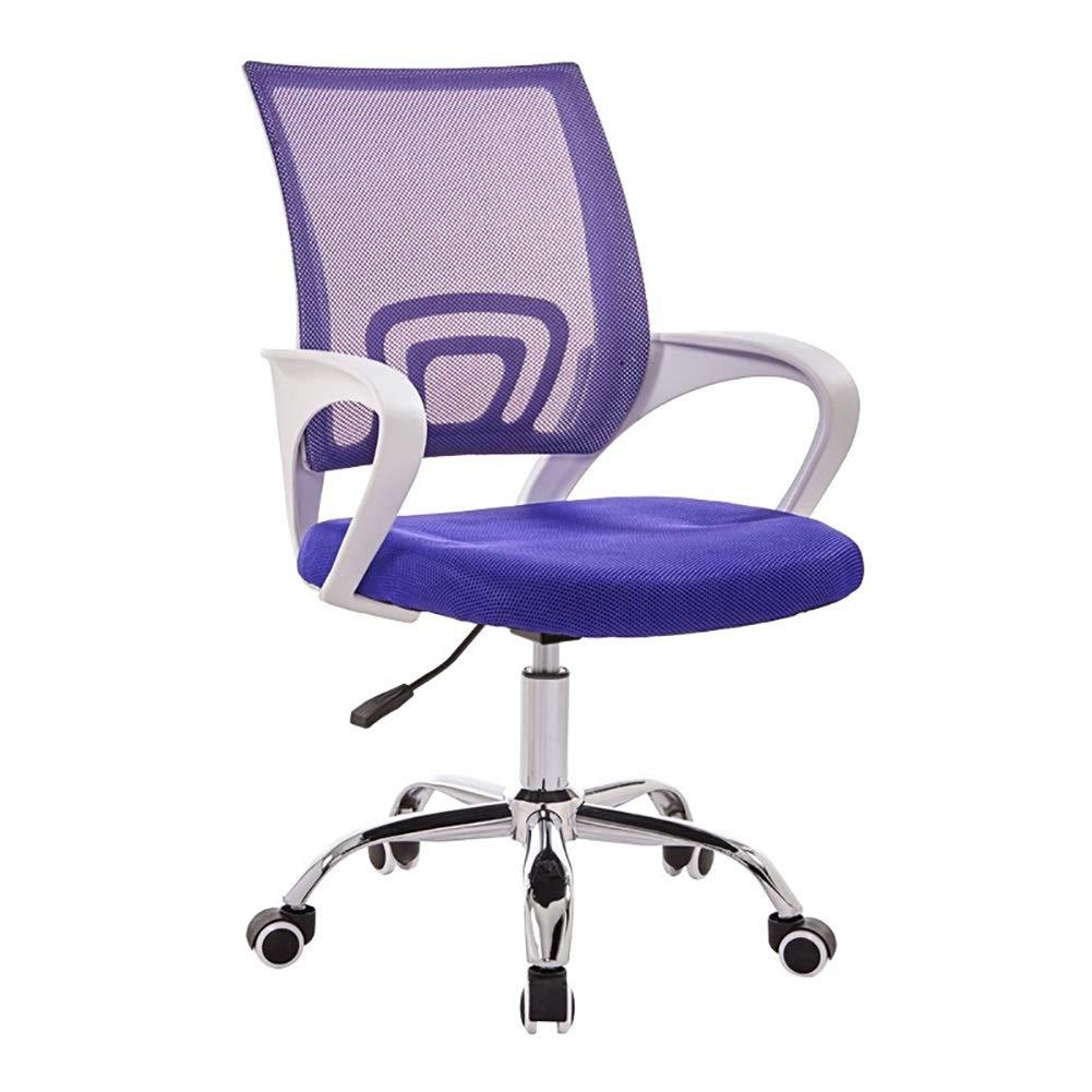 Kontorsstol skrivbordsstol hem kontor stol modern minimalistisk konferensstol datorstol lyftstol kan roteras 360 ° rostfritt stål material SGS-certifiering (färg: Röd # 1) Lila
