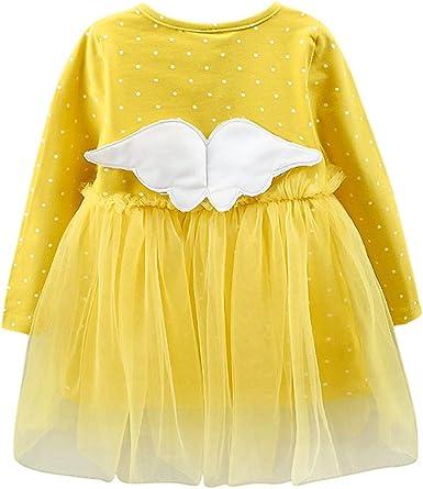 YWLINK Vestido De Fiesta NiñO Bebé NiñA Vestido De Princesa De Alas De Lunares De Malla