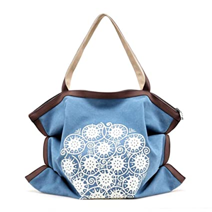 Amazon.com  MTXLN Vintage Canvas Women s Bag Big Bag Print Simple ... 20eb8be409e0